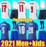 국가 대표팀 남자 키트 축구 유니폼 2021 Kane Sterling Rashford Sancho Henderson Barkley England Maguire 축구 셔츠 청소년 소년 어린이 세트 유니폼
