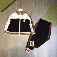 Baby Boy Clothe Set Coat + Pantalones Diseñador Chica Moda Boutique Otoño Ropa de otoño Conjuntos 110-160 cm Ropa azul Muchachos