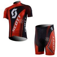 Scott Cycling Jerseys Camisetas de manga corta BIB Shorts Set Bike Use Ropa de bicicleta de verano de secado rápido Ropa Ciclismo 32536