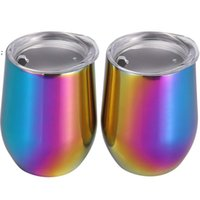 Stainless Steel Tumbler UV Wine Glasses Egg Cup Water Bottle Double Wall Vacuum Insulated Beer Mug Kitchen Bar Drinkware OWB7881