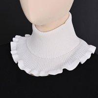 Foulards dames Turtleneck côtelé tricoté faux collier hiver coupe-vent Dickey Solide Couleur Solid Coldles Détachable Echarpe enveloppe