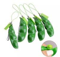 Dekompression Edamame Toys Squishy Squeeze Erbsen Bohnen Keychain Anti Stress Erwachsene Gummi Jungen Weihnachten Geschenk Zappeln Spielzeug
