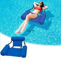 DHL flutuante cama piscina água hammock lounge cadeira inflável inflável dobrável Dobrável encosto de dupla encaminhamento de linhas diversão recliner sofá atacado xz
