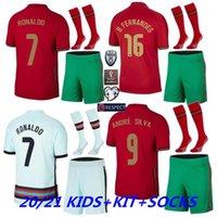 20 21 21 maglie da calcio Ronaldo Joao Felix B.fernandes 2021 2022 Camicia da calcio Bernardo Camisa Futebol Carvalho Maillot de Foot Kit Kit Calzini