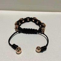 Brand Vintage Fashion Jewelry Copper Black Rope Chain Skull Bracelet Fashion Praty Jewelry Big Cuff Bracelet Vintage Design