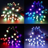 RGB WS2811 IC LED Pixel Module Lights 12mm IP68 Luces de puntos impermeables DC 5V Cadena Luz direccionable de Navidad para letras Signo Publicidad