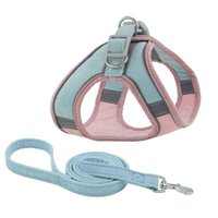 Dog Collars & Leashes Pet Breathable Chest Harness Reflective Cat Collar Training Small Puppy Adjustable
