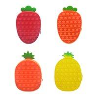 Fidget Toys Sensory Fashion Pineapple Carrot Storage Bag Push Bubble Rainbow Anti Stress Educational Children And Adults Decompression Toy Surprise wholesale