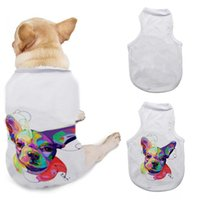 DIY Hunde T-shirt Bekleidung Sublimation leer Haustiere 3 Größen ärmelloser Hund Welpen Weste Kleidung Supplies WWA277