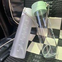 대용량 플라스틱 모션 텀블러 워터 컵 승화 공백 투명 혀가 컵 패션 스트레이트 머그잔 600ml 800ml 4 85cz T2