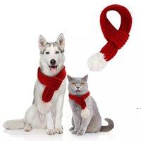 الحيوانات الأليفة عيد الميلاد محبوك وشاح الكلب الملابس القط الملابس جرو هريرة الديكور البسيطة Christmasscarfs الأوشحة الكلب كلب HWE5419
