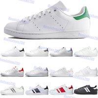 Più nuovo 2021 scarpe casual di alta qualità bianco verde lussureggiante rosso metallico argento moda uomini donne chaussures in pelle sportivi sportivi formatori classici sneakers US 5-11