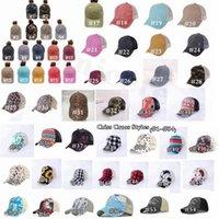 At kuyruğu şapka 65 stilleri yıkanmış sıkıntılı dağınık çörekler ponycaps beyzbol şapkası leopar ayçiçeği kamyon şoförü mesh şapka açık spor ayarlanabilir şapkalar z