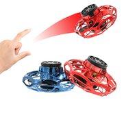 Atualizar Flynova Mini Drone UFO Tipo Flying Helicóptero Spinner Spinner Flight Flight Giroscópio Drone Aeronaves Brinquedo LED Adulto Kids presentes q0423