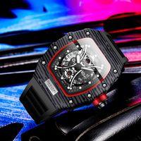 Relojes de pulsera Reloj de hombre deportivo Kimsdun Cuarzo Cronógrafo Lujo Ocio Tonkin RM Reloj Masculino Impermeable Relogio Homme
