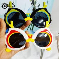 Kawaii الكرتون نمط الطفل النظارات الشمسية 2021 الأطفال الاستقطاب الأزياء شخصية سيليكون نظارات YG190