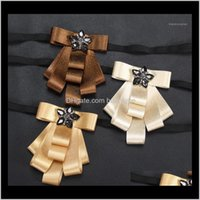 Neck Ties Fashion Aessories Drop Delivery 2021 Liiway Women Bow For Mens Tuxedo Bowtie Cravat Business Wedding Detachable Collar Tie Shirt Ae