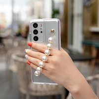 Two Color Anti Slip TPU Case for Samsung galaxy S30 Ultar S30 Plus S21Fe A12 M12 A72 A71 A52 A51 Huawei P30 P40 Pro MATE 40 MATE 30 Love Bracelet Ransparent Case