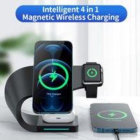 아이폰 12 Pro Max Qi 빠른 충전 유도 충전기 Apple Watch Airpods에 대한 3 개의 마그네틱 무선 충전기 스탠드