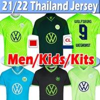 Vfl Wolfsburg Soccer Jersey 2021 Ginczek Steffen Men Kids Kits Home Mbabu Brooks Arnold Whagorst موحدة كرة القدم قمصان التايلاندية
