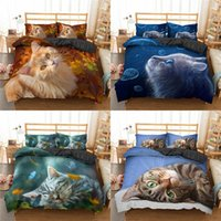 Bedding Sets Lovely Cat Butterfly 3D Printed Duvet Cover Quilt Covers Kids Set King Queen Full Double Single Size High Quality