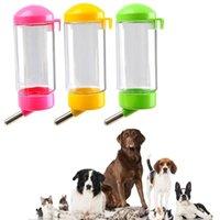 400 ملليلتر بسيطة موزع المياه قابلة للإزالة للحيوانات الأليفة جرو الكلب القط التلقائي المغذية المحمولة الكلاب القطط زجاجة الحيوانات الأليفة لوازم الأطباق المغذيات