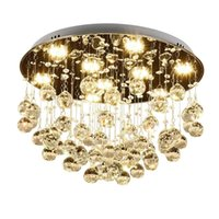 Ceiling Lights Modern Fashion Romantic Circular K9 Crystal LED Lamp DIY Home Deco Dining Room Stainless Steel Lighting Fixture