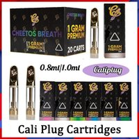 Atomizzatori Cali Cali Plug Vape Cartridges Packaging Caliplug 510 Discussione 0.8ml 1.0ml Ceramica Bobina ceramica Vaporizer Vaporizzatore olografico scatola al minuto CE4 Carrello