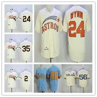Erkekler Retro 1964 Houston Colts Nellie Fox Jimmy Wynn Joe Morgan Jersey Dikişli Krem Mavi 1969 Seattle Pilots Jim Bouton Emekli Gömleği Ucuz