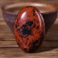 Kırmızı Obsidyen Palmiye Taş Kuvars Şifa Kristal Masaj Spa Gevşeme Meditasyon