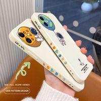 Rectángulo lindo patrón caja del teléfono para iPhone 13 12 Pro Max 11 x XS XR XSMAX SE2020 8 8PLUS 7 7PLUS 6 6S PLUS DE SILICONA H1009