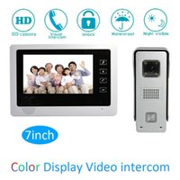 Touch Keypad Intelligent 1 To Intercom Kit 7 Inch LCD Monitor Wire Video Door Phone Doorbell System Security Camera For Vistor Phones