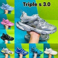 Nuevo Diseñador de Lujo Pista 3.0 Zapatillas Tess Paris Hombres Gomma Maille Negro Pista Baja Triple S Zapatos Casuales Al Aire Libre 35-45
