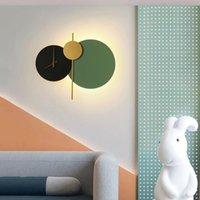 Nordic Saat Duvar Lambası Oturma Odası Arka Plan Dekorasyon Restoran Yatak Odası Çalışma Yaratıcı Kişilik Sanat Tasarımcısı tarzı