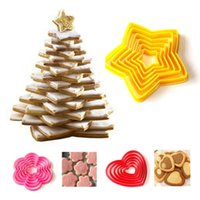 Baking Moulds 3D Christmas Tree Cookie Mold Star Heart Shape Plum Biscuit Cutter Fondant Cake Decorating Mould Kitchen DIY Tools