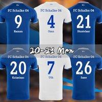 20 21 Schalke 04 Jerseys de fútbol Huntelaar Tailandia Uth Ozan McKennie Caligiuri Raman Bentaleb Ibisevic Football Shirts