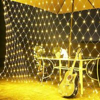 Net LED String Lights 8Modes 220V 3X2M Festival Christmas Decoration New Year Wedding Party Waterproof