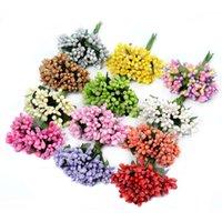 240 pcs / lote flor artificial stamen haste de fio de amoreira para decoração de casamento diy bordado caixa de presente barato grinalda flores falsificadas