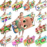 Cocomelon JJ Family Friends Print Beach Towel Cartoon Blanket Large Size Kids Bath Swim Towels Sand Mat Shawl Lightweight Sand Proof 35 Colors G713LYU