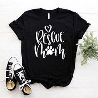 Frauen T-Shirt Rettung Mutter Hund Katze Mode Weibliche Mama Kleidung 100% Baumwolle Kurzarm Top Tees Ästhetisch Plus Größe Casual Hemden