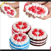 Novelty Items Décor & Gardennovelty Kawaii Stberry Cake Squishy Slow Rising Kids Adult Funny Decompression Squeeze Toys Home Party Decorative