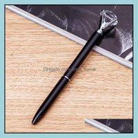 Writing Supplies Office School Business & Industriallovely Dots Kawaii Crystal Ballpoint Pen Fashion Girl Large Diamond Metal Pens Drop Deli