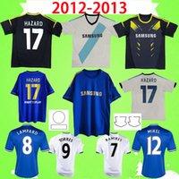 2012 2013 RETRO Chelsea camisetas de fútbol vintage PELIGRO TORRES MATA LAMPARD DAVID LUIZ TERRY TERRY 12 13 camisetas de fútbol clásico azul hogar