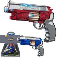Nine electric vibration music pistols 696-46 bullet rotation light simulation shooting children's toys
