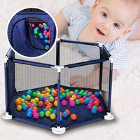 Baby-Playpen-Zaun-Faltsicherheits-Barrier 0-6 Jahre alte Kinder Textilspielplatz Kinderspiel Zelt Schutz für Kleinkinder Holiday Gift WLL592