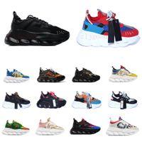 Plataforma de moda Choque Hombres y mujeres Zapatos casuales Cadena Botas de cuero Classic Originales Patchwork Zapato al aire libre Lace-Up Retro Style 36-45