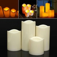 Cylindrical Flickering LED Candle Light Flameless For Garden...