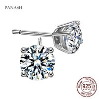 100% Real 925 Sterling Silver Solitaire Stud Earrings Allergy Free Original Jewelry Ear Accessories E008