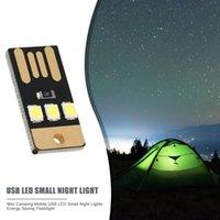 Camping Noche Senderismo Tienda de campaña Luz Al aire libre Al aire libre Portátil Flashing Flashlight Mini Ultra-Thin Mobile USB LED Llavero Linternas