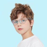 النظارات الشمسية 5-13 الأطفال الذين تتراوح أعمارهم بين الأزرق ضوء حظر نظارات الاطفال الأزياء مرنة tr90 الإطار عادي الكمبيوتر الألعاب النظارات الفتيات الفتيان WD5114